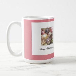Pastel ornaments basic white mug
