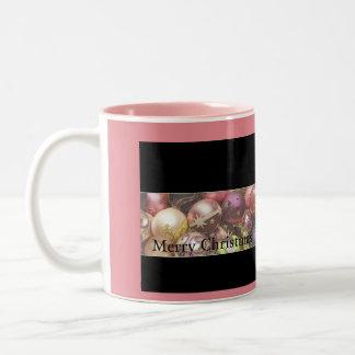 Pastel ornaments Two-Tone mug