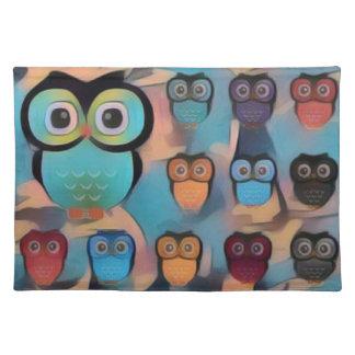 Pastel Owls Placemat