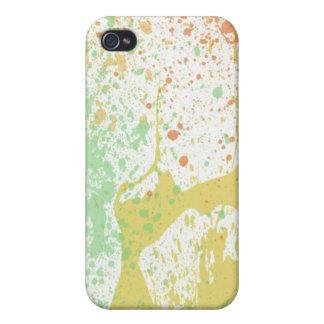 Pastel paint splatter print iPhone 4 case