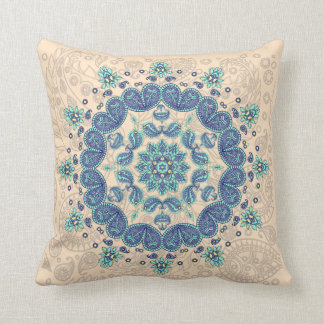 Pastel Paisley Kaleidoscope Throw Pillow