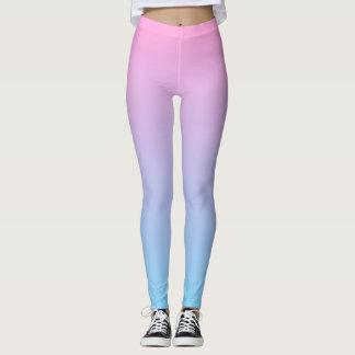 Pastel Pale Pink and Blue Gradient Leggings