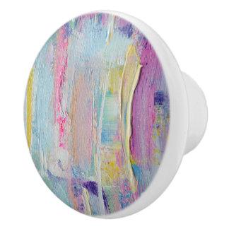 Pastel Palette Knife Paint Ceramic Knob