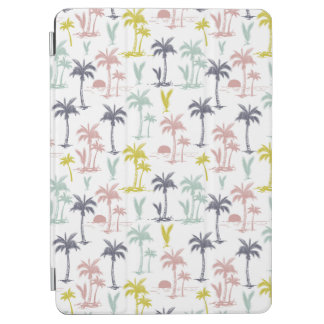 Pastel Palm Tree by the Beach Pattern iPad Air Cover
