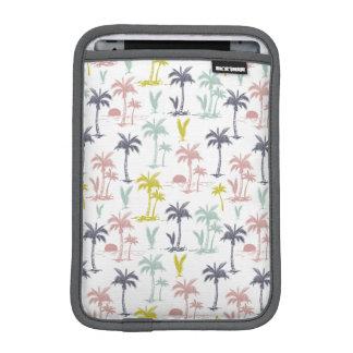 Pastel Palm Tree by the Beach Pattern iPad Mini Sleeve