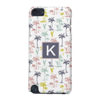 Pastel Palm Tree by the Beach Pattern iPod Touch (5th Generation) Cover