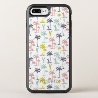Pastel Palm Tree by the Beach Pattern OtterBox Symmetry iPhone 8 Plus/7 Plus Case