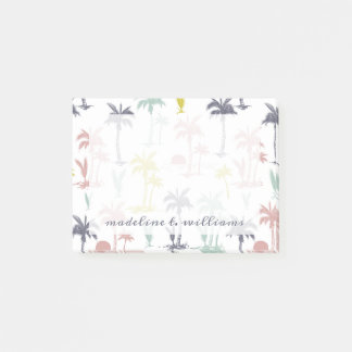 Pastel Palm Tree by the Beach Pattern Post-it Notes