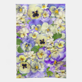 Pastel Pansies ~ Kitchen Towel