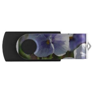 Pastel Pansies Swivel USB 2.0 Flash Drive