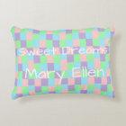 Pastel Patchwork Personalised Decorative Cushion