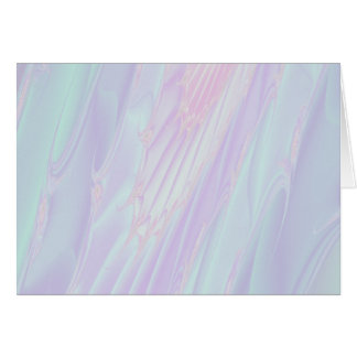 Pastel Pattern Fractal - Sea Shell Style. Greeting Card