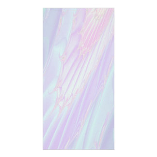 Pastel Pattern Fractal - Sea Shell Style. Photo Card Template