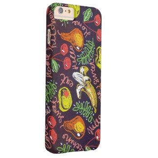 Pastel pattern Fruit iphone Barely There iPhone 6 Plus Case