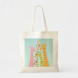 c5e79ba4b Pastel Pattern Giraffes Tote Bag