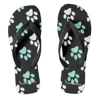 Pastel Paws Thongs