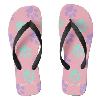 Pastel Paws Thongs