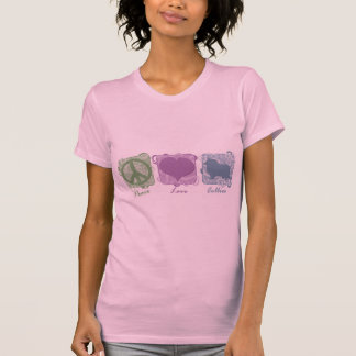 Pastel Peace, Love, and Collies T-Shirt