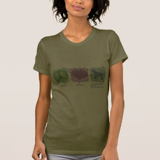 Pastel Peace Love and Labrador Retrievers T-shirts
