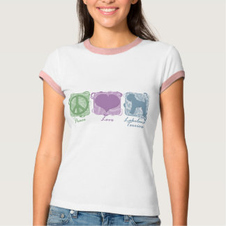 Pastel Peace, Love, and Lakeland Terriers T-Shirt