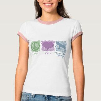 Pastel Peace, Love, and Neapolitan Mastiffs T-Shirt