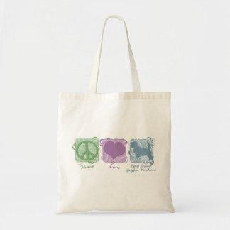 Pastel Peace, Love, and PBGVs Tote Bag