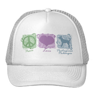 Pastel Peace, Love, and Smooth Portuguese Podengos Cap