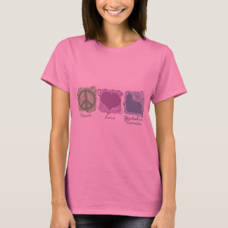 Pastel Peace, Love, and Yorkshire Terriers T-Shirt