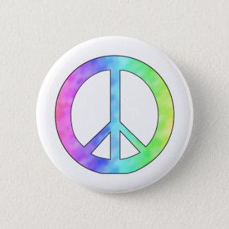 Pastel Peace Sign 6 Cm Round Badge