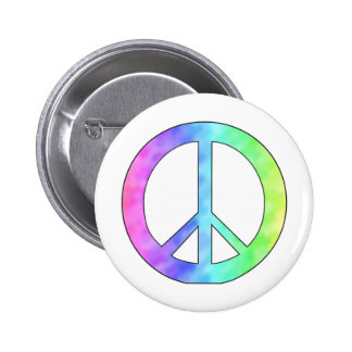 Pastel Peace Sign 6 Cm Round Badge