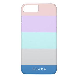 pastel peach purple mint grey blue color block iPhone 7 plus case