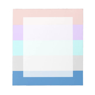 pastel peach purple mint grey blue color block notepad