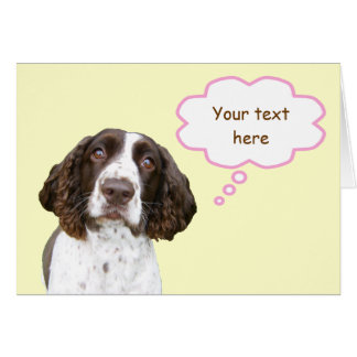 Pastel Personalized English Springer Spaniel Card