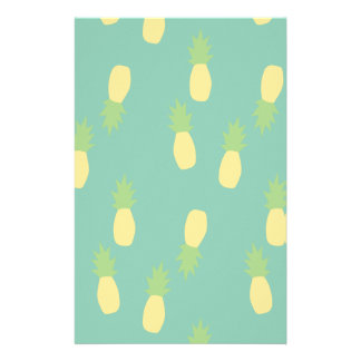 Pastel Pineapple Pattern Stationery