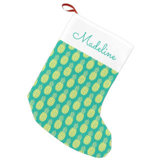 Pastel Pineapples | Add Your Name Small Christmas Stocking
