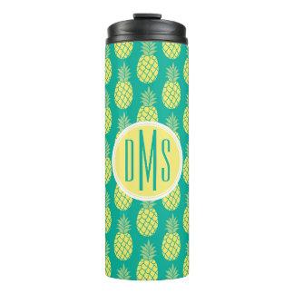 Pastel Pineapples   Monogram Thermal Tumbler