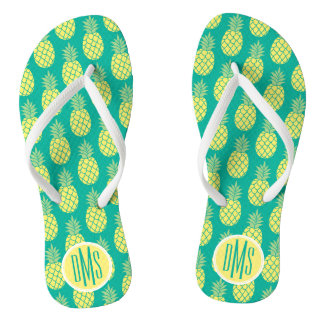 Pastel Pineapples | Monogram Thongs