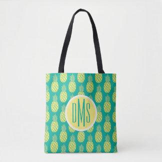 Pastel Pineapples | Monogram Tote Bag