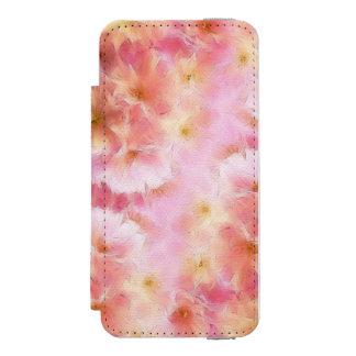 Pastel pink abstract flowers incipio watson™ iPhone 5 wallet case