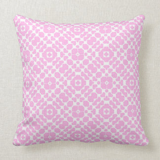 Pastel Pink andWhite Pattern Cushion