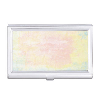 Pastel Pink, Blue and Yellow texture Business Card Holder