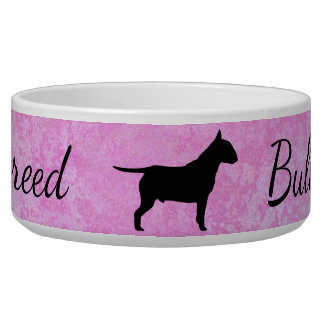 Pastel Pink Bully Breed Large Pet Bowl