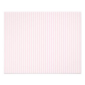 Pastel Pink Candy Stripes. 11.5 Cm X 14 Cm Flyer