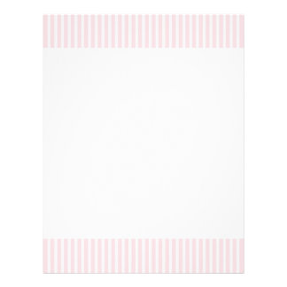Pastel Pink Candy Stripes. 21.5 Cm X 28 Cm Flyer