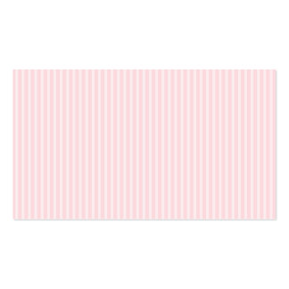 Pastel Pink Candy Stripes. Double-Sided Standard Business Cards (Pack Of 100)