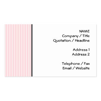 Pastel Pink Candy Stripes. Pack Of Standard Business Cards
