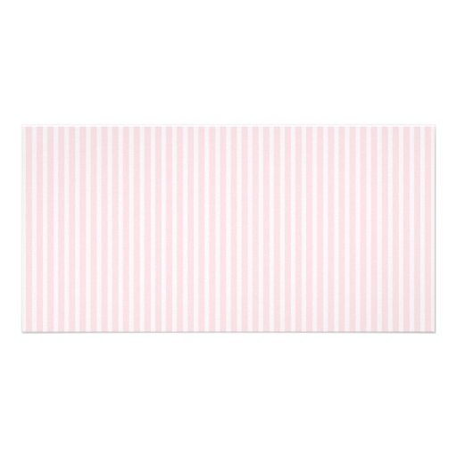 Pastel Pink Candy Stripes. Custom Photo Card