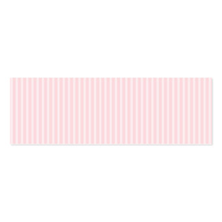 Pastel Pink Candy Stripes. Pack Of Skinny Business Cards