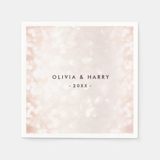 Pastel Pink Celebration | Wedding Napkins Disposable Serviette