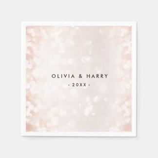Pastel Pink Celebration | Wedding Napkins Paper Napkin